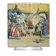 G. Cleveland Cartoon, 1896 Shower Curtain