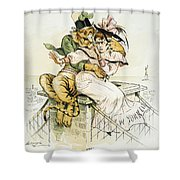 Political Cartoon Shower Curtain