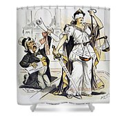 Justice Cartoon Shower Curtain