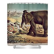 Office Seekers 1885 Shower Curtain