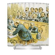 Litigation Cartoon Shower Curtain