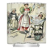 New South Cartoon, 1895 Shower Curtain
