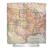 Map: United States, 1905 Shower Curtain
