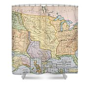 Map: U.s. Expansion, 1905 Shower Curtain