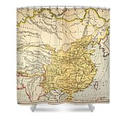 Map: China, 1910 Shower Curtain