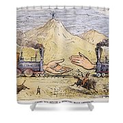 Promontory Point, 1869 Shower Curtain