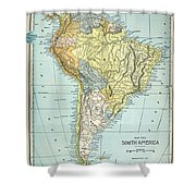 South America: Map, C1890 Shower Curtain