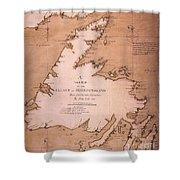 Cook: Newfoundland, 1763 Shower Curtain