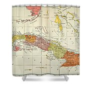 Map: Cuba, 1900 Shower Curtain