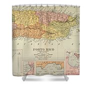 Map: Puerto Rico, 1900 Shower Curtain
