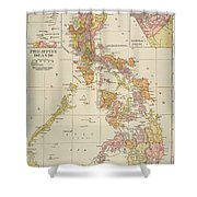 Map: Philippines, 1905 Shower Curtain