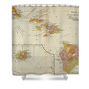 Map: Hawaii, 1905 Shower Curtain
