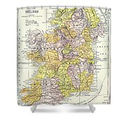Map: Ireland, C1890 Shower Curtain