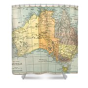 Map: Australia, C1890 Shower Curtain