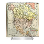 Map: North America, 1890 Shower Curtain