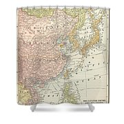 Map: East Asia, 1907 Shower Curtain