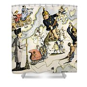 Europe: 1848 Uprisings Shower Curtain
