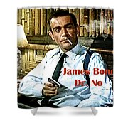 007, James Bond, Sean Connery, Dr No Shower Curtain