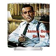 007, James Bond, Sean Connery, Dr No Shower Curtain