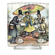 Missionary Cartoon, 1895 Shower Curtain