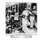 Press Cartoon, 1912 Shower Curtain