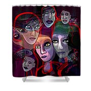2636   Night In Their Eyes A Shower Curtain
