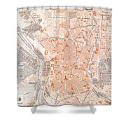 Spain: Madrid Map, C1920 Shower Curtain