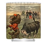 Boer War Cartoon, 1899 Shower Curtain