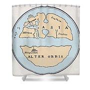 World Map, 1st Century Shower Curtain