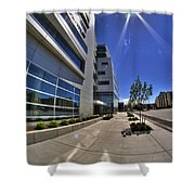 01 Conventus Medical Building On Main Street Shower Curtain