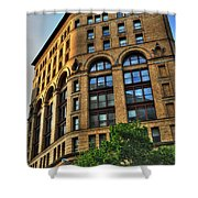 01 Dunn Building At Sunrise Shower Curtain