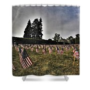 01 Flags For Fallen Soldiers Of Sep 11 Shower Curtain