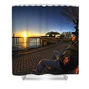 01 Me Sunset 16mar16 Shower Curtain
