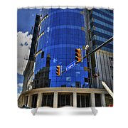 01 W. Chipp And Delaware Construction  Shower Curtain