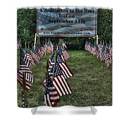 010 Flags For Fallen Soldiers Of Sep 11 Shower Curtain