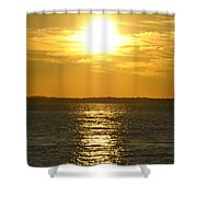 010 Sunset 16mar16 Shower Curtain