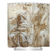 Raphael: Study, C1510 Shower Curtain