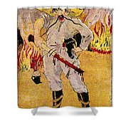 Mexico: Political Cartoon Shower Curtain