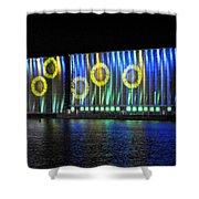 011 Grain Elevators Light Show 2015 Shower Curtain