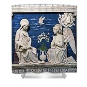 Della Robbia: Annunciation Shower Curtain