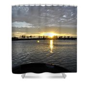 012 April Sunsets Shower Curtain