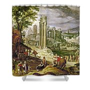 Roman Forum, 16th Century Shower Curtain
