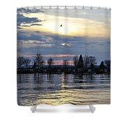 013 April Sunsets Shower Curtain