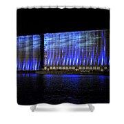 013 Grain Elevators Light Show 2015 Shower Curtain