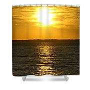 013 Sunset 16mar16 Shower Curtain