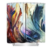 01321 Fire And Waves Shower Curtain