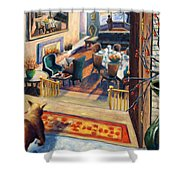 01348 Awaiting Guests Shower Curtain