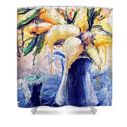 01353 Daffodils Shower Curtain