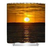 014 Sunset 16mar16 Shower Curtain