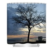 018 April Sunsets Shower Curtain